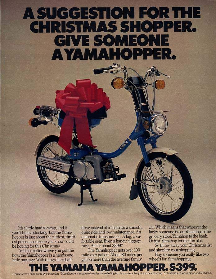 For the Christmas Shopper - the Yamaha Yamahopper Motorscooter ad 1979 L