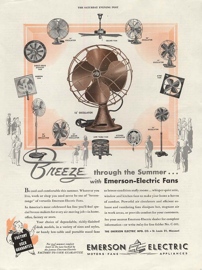 Breeze through summer with Emerson Electric Fans ADVERTISEMENT 1948 SEP