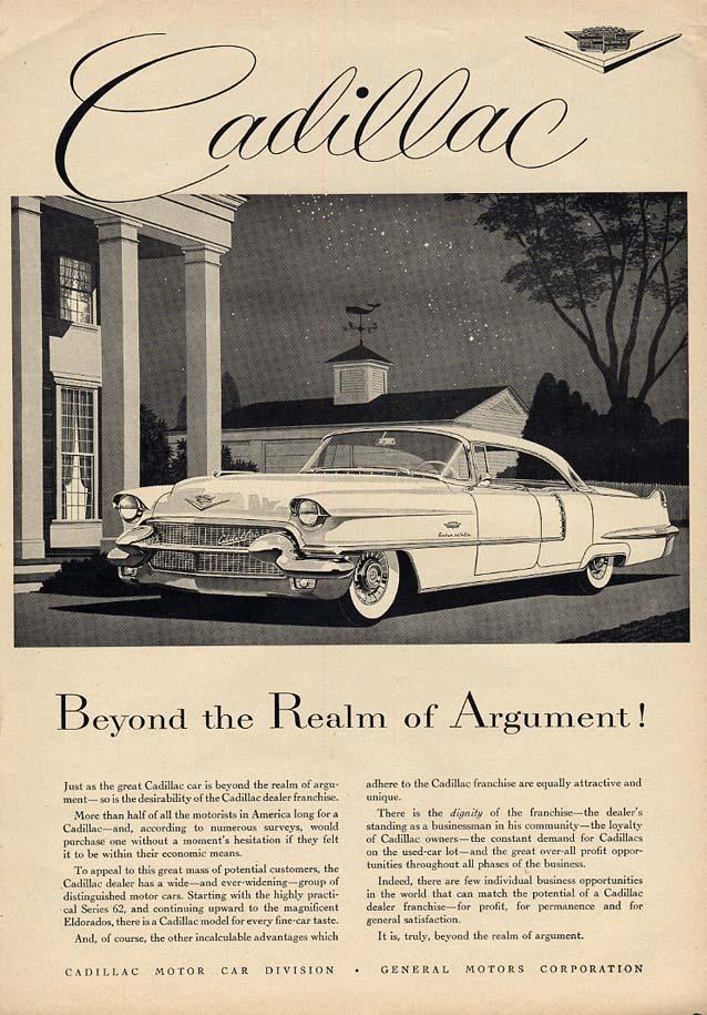 Beyond the Realm of Argument! Cadillac Sedan de Ville ad 1956