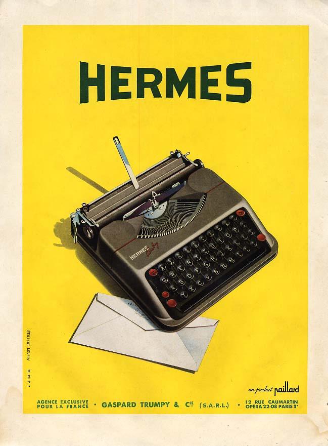 Hermes Baby Typewriter un produit Paillard ad in French 1930s