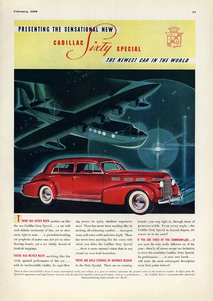 Presenting the Sensational New Cadillac Sixty Special ad 1938 ESQ
