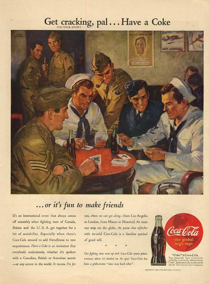 Get cracking, pal Have a Coca-Cola ad 1945 L