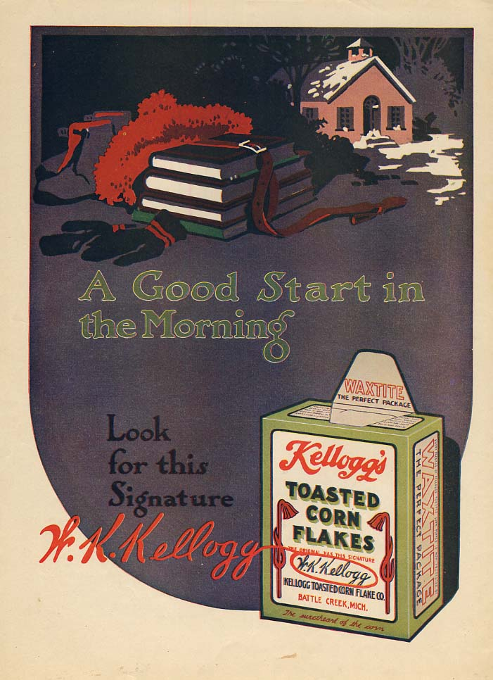 A Good Start in the Morning - Kellogg's Toasted Corn Flakes ad 1915
