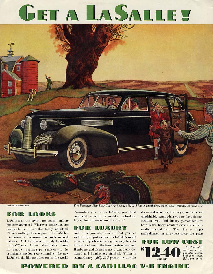 For Looks Luxury & Low Cost - Get a La Salle! Ad 1939 SEP