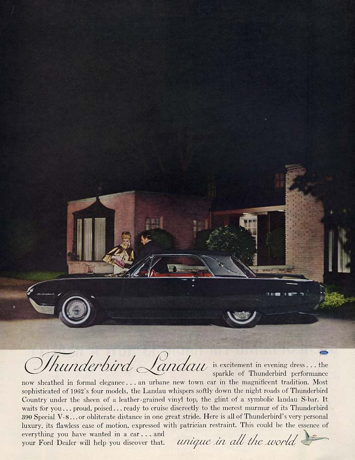 Image for Thunderbird Landau is excitement in evening dress ad 1962 H