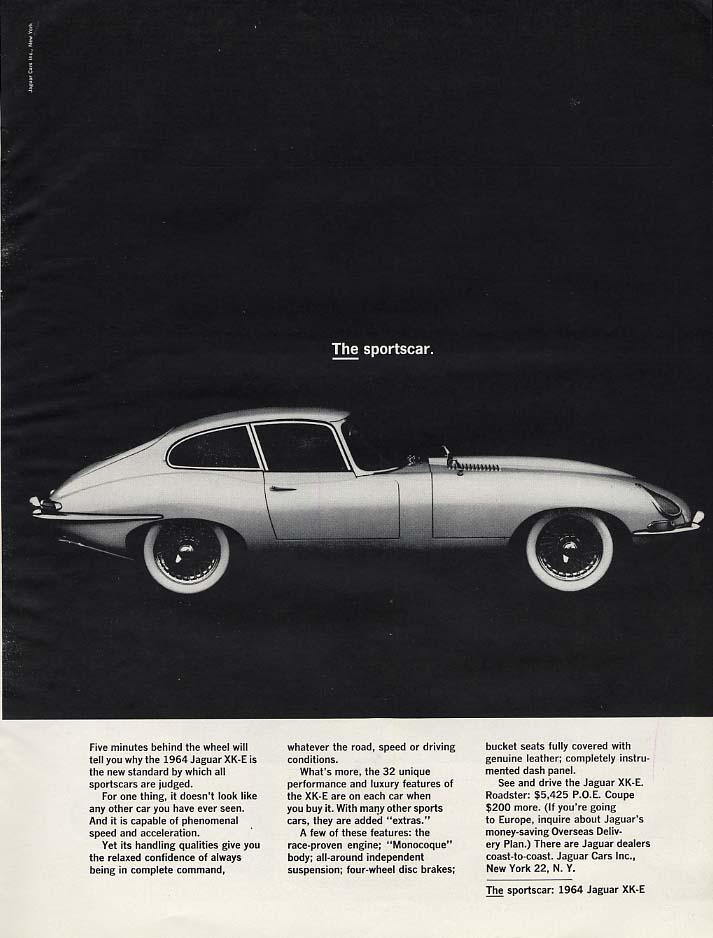 THE sportscar - Five minutes behind the wheel Jaguar XK-E Coupe ad 1964 H