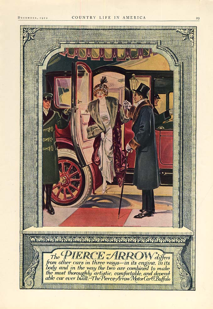 Pierce-Arrow differs from other cars in three ways ad 1913 Frank Leyendecker CL