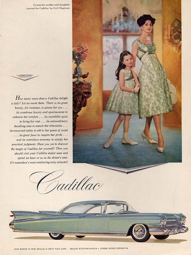 How many ways to delight a lady Cadillac Eldorado Coupe ad 1959 var