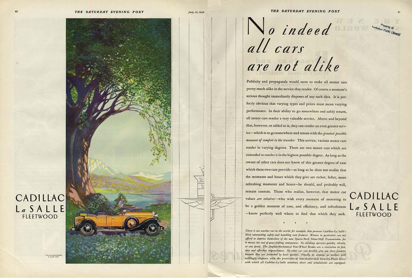 All cars are not alike Cadillac / In the long run Auburn 120 ad 1929