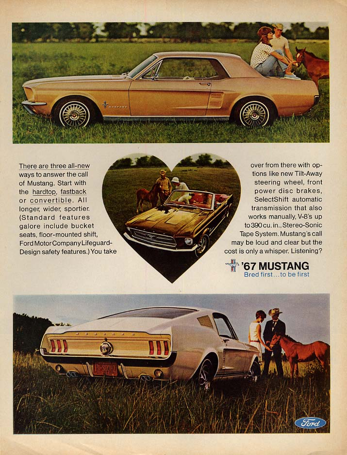 There are three all-new ways to answer the call of Mustang ad 1967 L