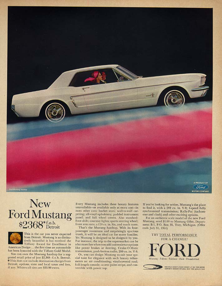 This is the car you never expected from Detroit - Ford Mustang ad 1964