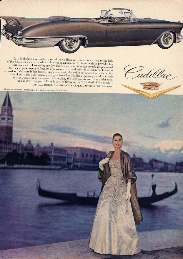 Extraordinary interior spaciousness - Cadillac Eldorado Convertible ad 1957 HB
