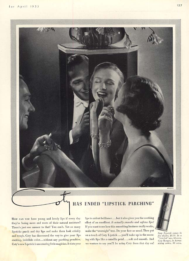 Coty has ended Lipstick Parching ad 1935 Edward Steichen photo HBZ