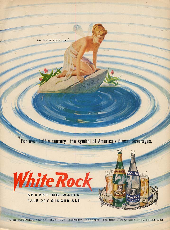 Image for The White Rock Girl symbol of America's Finest Beverages ad 1951 L