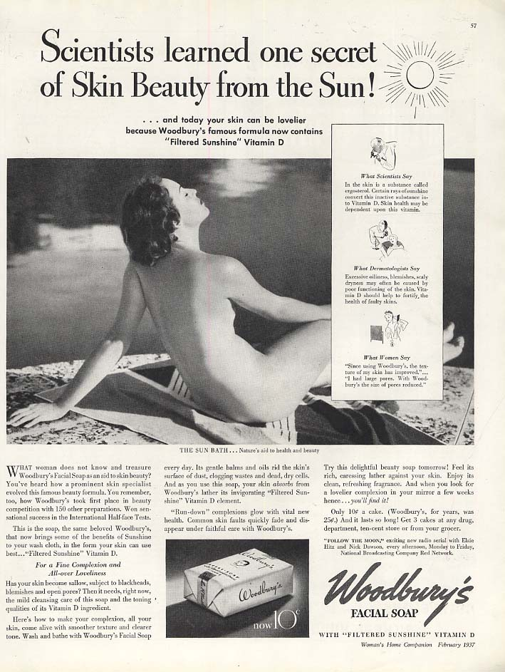 Scientists learned one secret of Skin Beauty - Woodbury's Soap ad 1937 Steichen