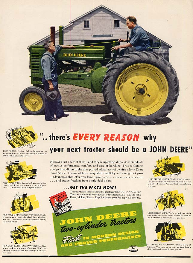 Image for There's every reason why your next tractor should be John Deera ad 1957 FQ