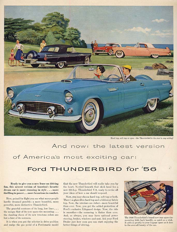 Image for Latest version of America's most exciting car Ford Thunderbird ad 1956 F