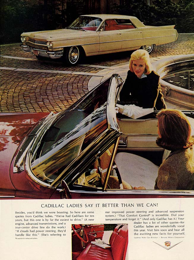 Cadillac Ladies Say It Better Than We Can - Cadillac Convertible & HT ad 1964 HB