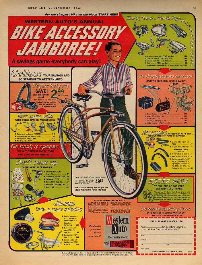 Western Auto's Annual Bicycle Accessory Jamboree ad 1965 BL
