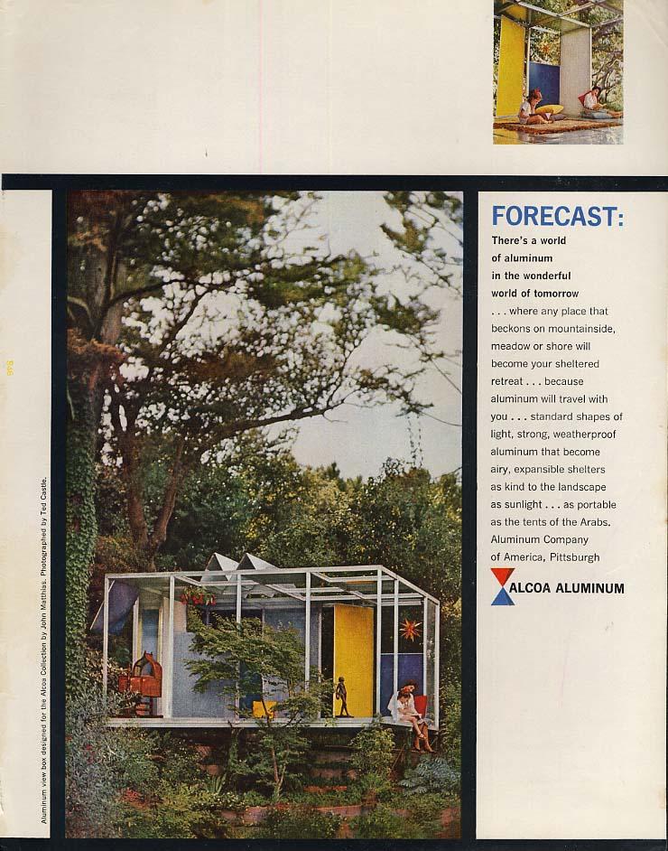 Forecast: Alcoa Aluminum View Box designed by John Matthias ad 1959 SEP