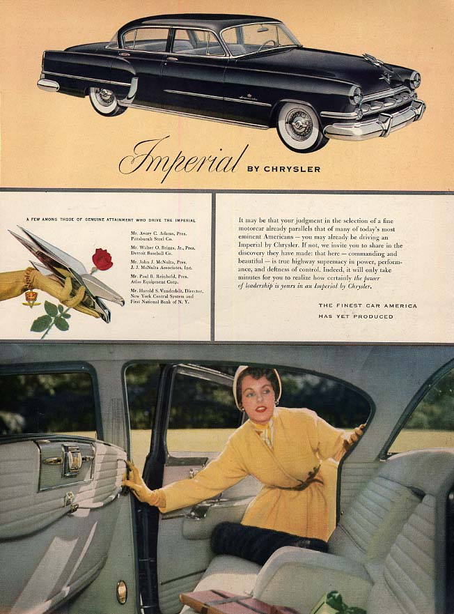Image for Your judgment already parallels that of many Imperial by Chrysler ad 1954 HBZ