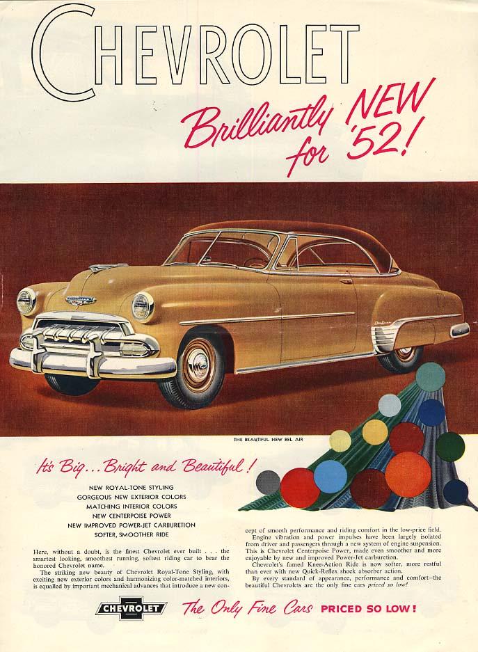 Brilliantyly new for 1952! Chevrolet full-line ad 1952 CF