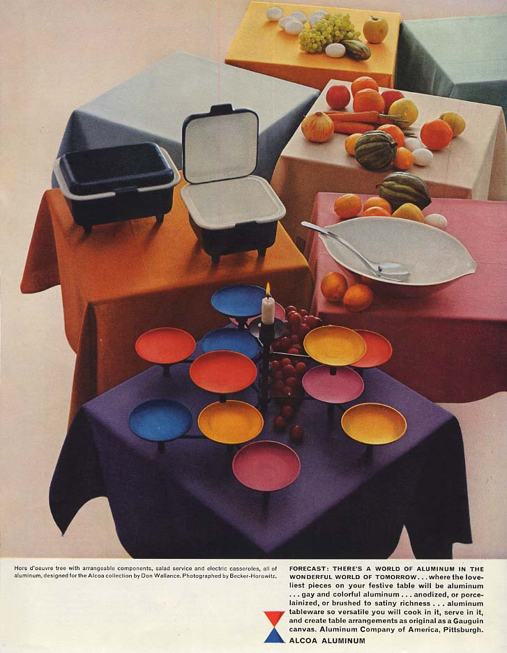 Wonderful World of Tomorrow: Alcoa Aluminum Cookware by Don Wallance ad 1958 SEP