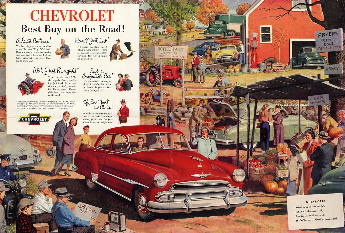 Best Buy on the Road! Chevrolet De Luxe Sedan ad 1951 CF