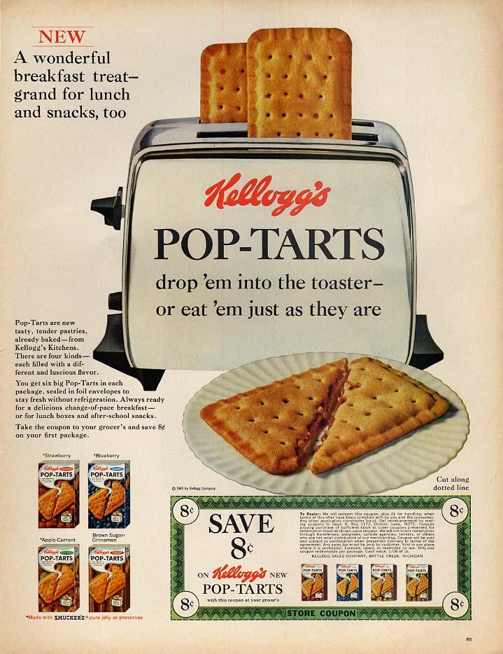A wonderful breakfast treat - Kellogg's Pop-Tarts ad 1965 L