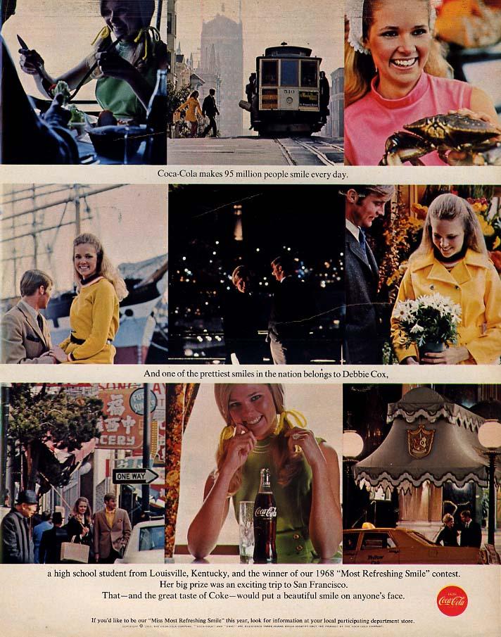 Debbie Cox Coca-Cola Most Refreshing Smile Winner Louisville KY ad 1969