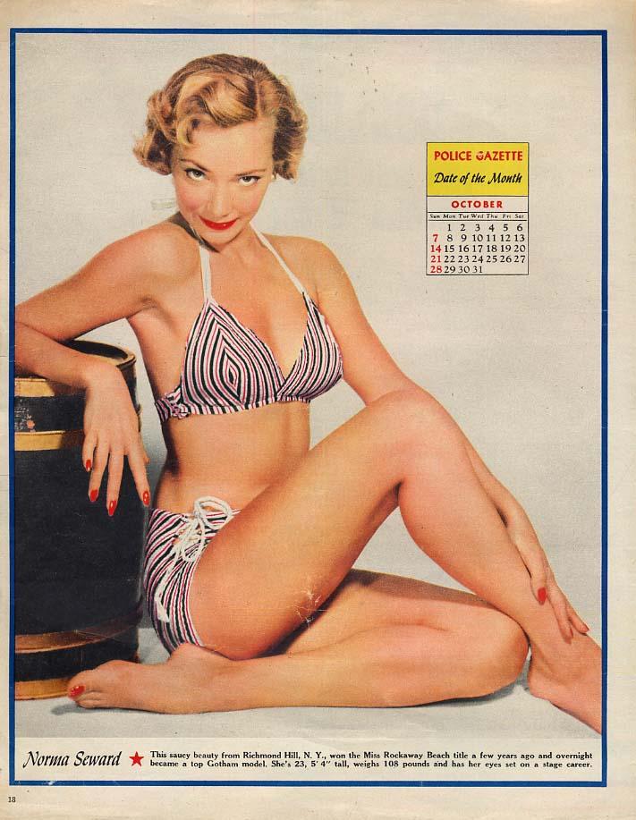 Norma Seward bikini pose Police Gazette Date of the Month