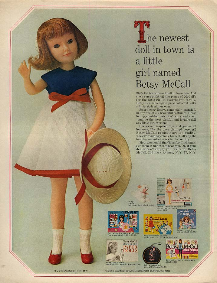 Image for The newest doll in town is a little girl names Betsy McCall page 10 1964