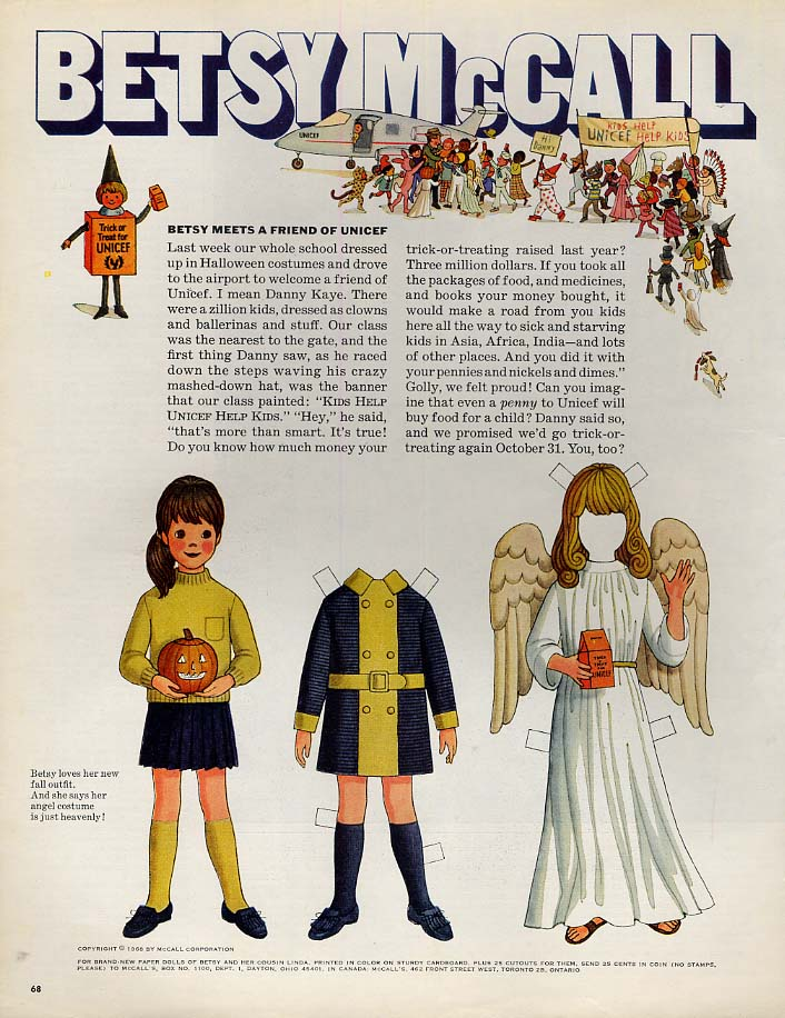 Image for Betsy McCall Meets a Friend of UNICEF  paper doll page 10 1968