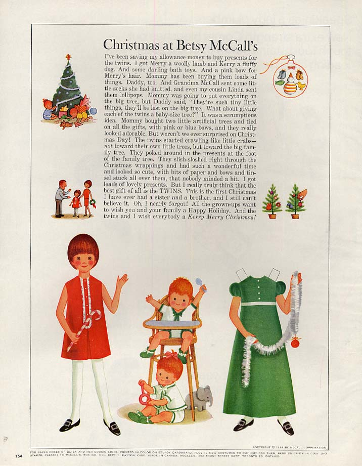 Image for Christmas at Betsy McCall's paper doll page 12 1966