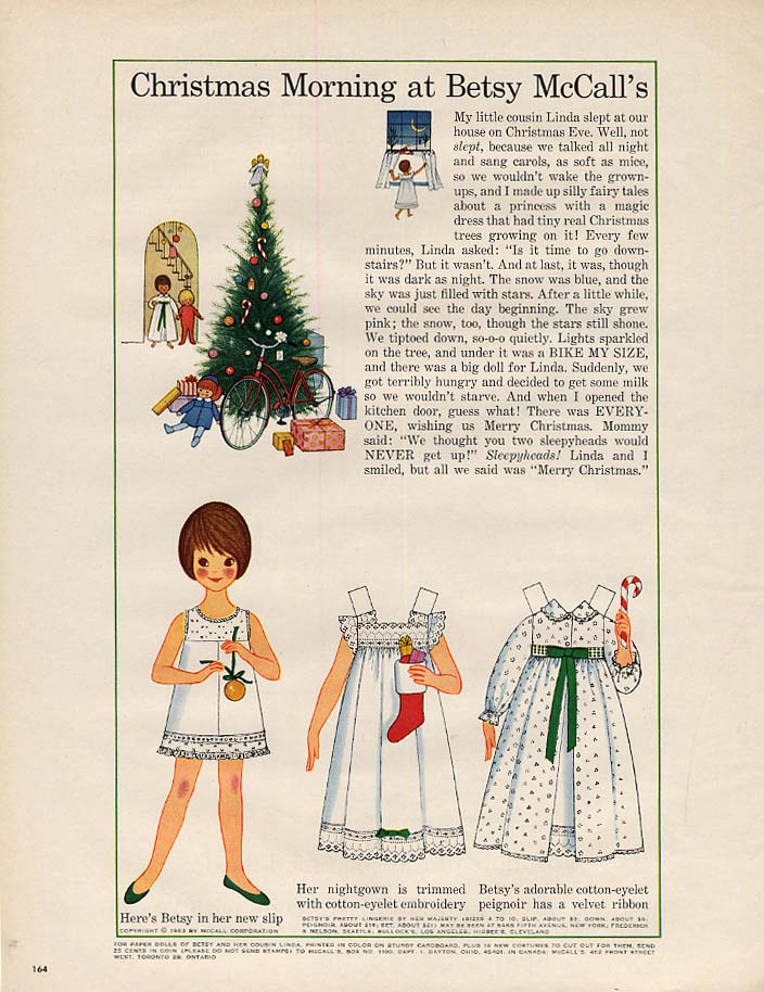 Image for Christmas Morning at Betsy McCall's paper doll page 12 1963