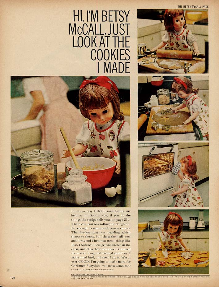 Image for Betsy McCall Just Look at the Cookies I Made paper doll page 11 1961