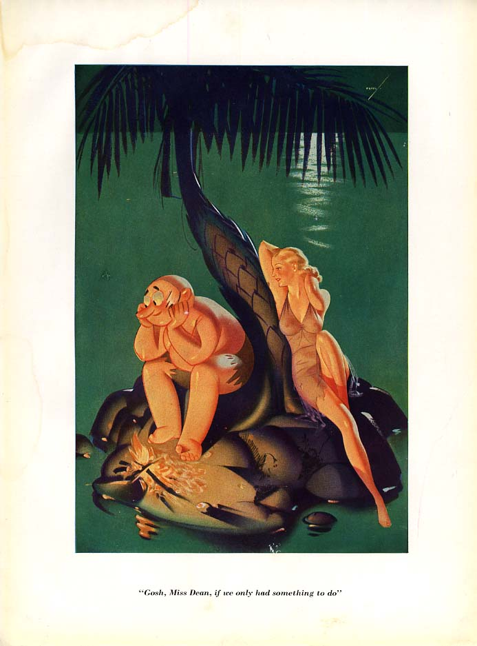 Image for George Petty Esquire cartoon print 1935 If only we had something to do