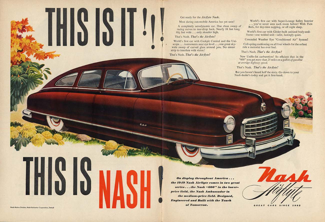 Image for This is it! This is Nash 600 4-door sedan! Ad 1949 T
