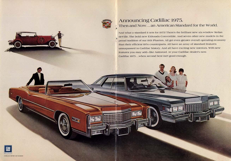 An American Standard for the World - Cadillac Eldorado & Sedan de Ville ad 1975