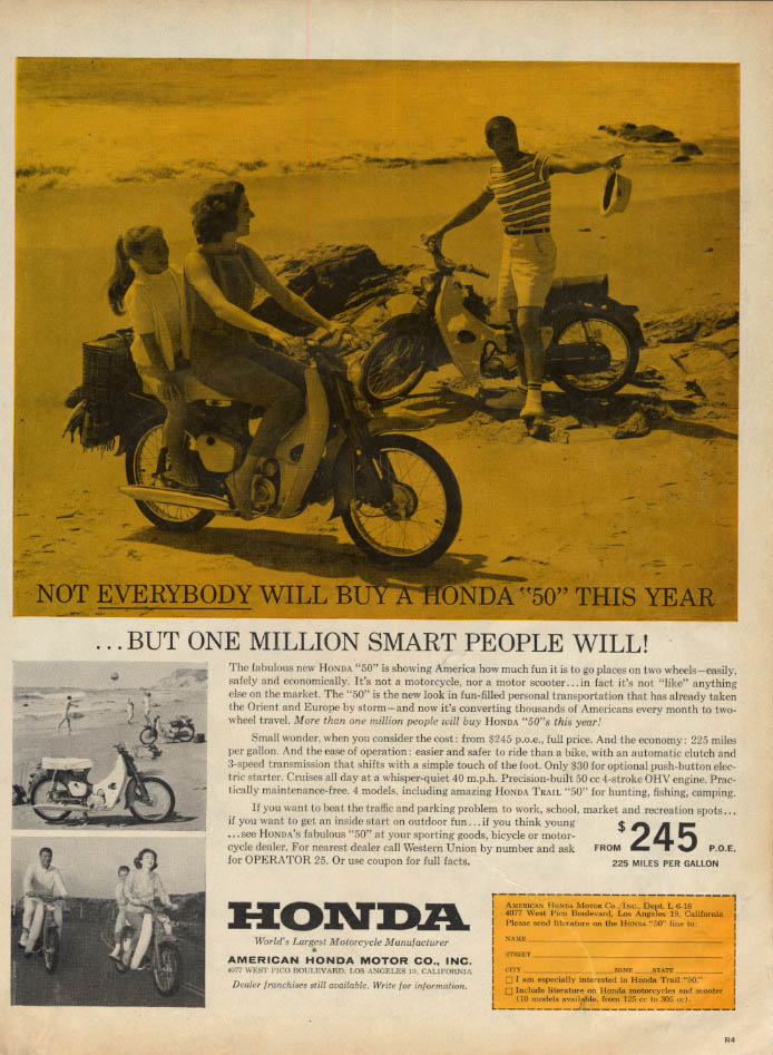 Image for Not everybody will buy a Honda 50 Motorcycle this year ad 1961 L