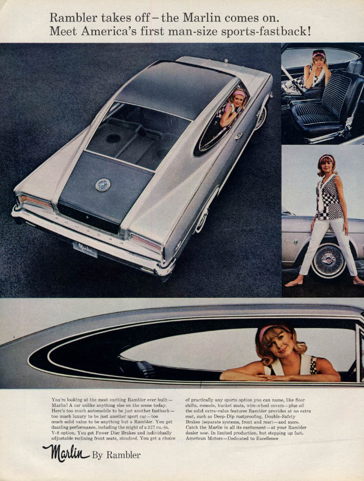 Image for Rambler Marlin -America's first man-size sports car ad 1965 L