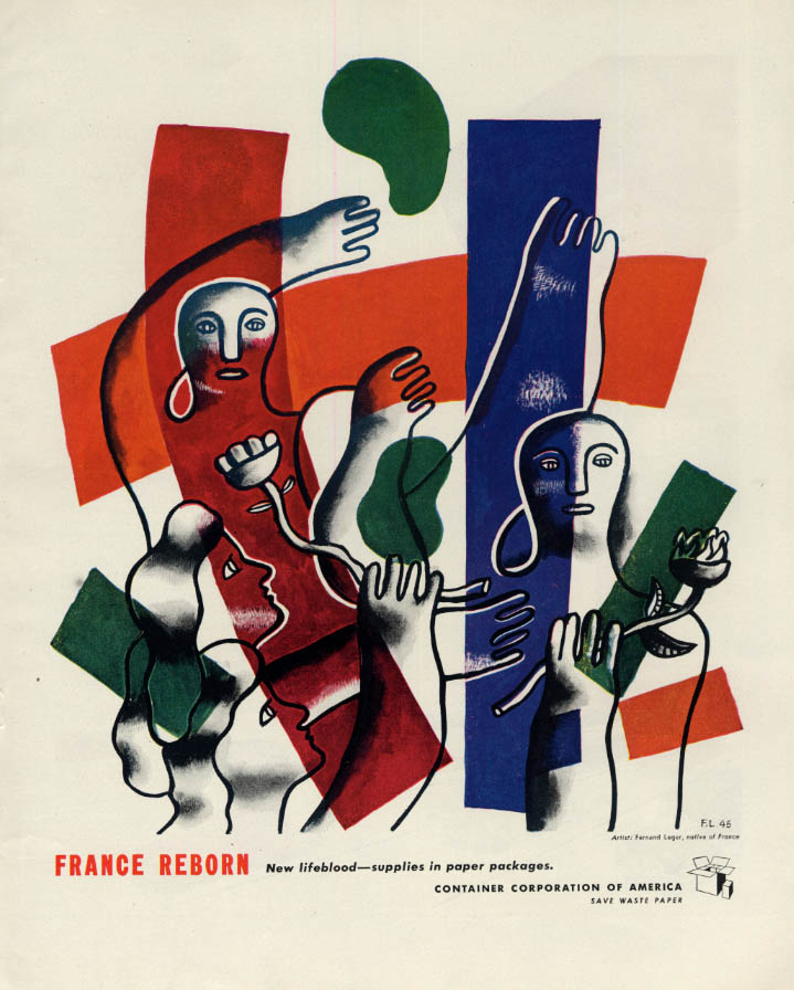 Image for France reborn: Container Corporation of America ad 1945 by Fernand Leger F