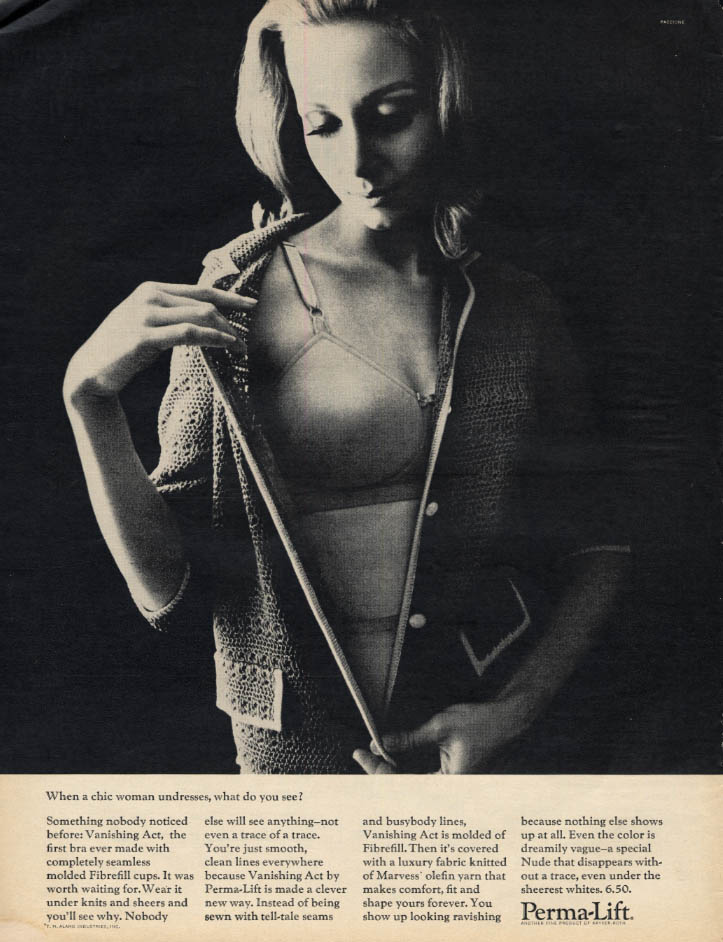 Image for When a chic woman undresses what do you see Perma-Lift Vanishing Act Bra ad 1965