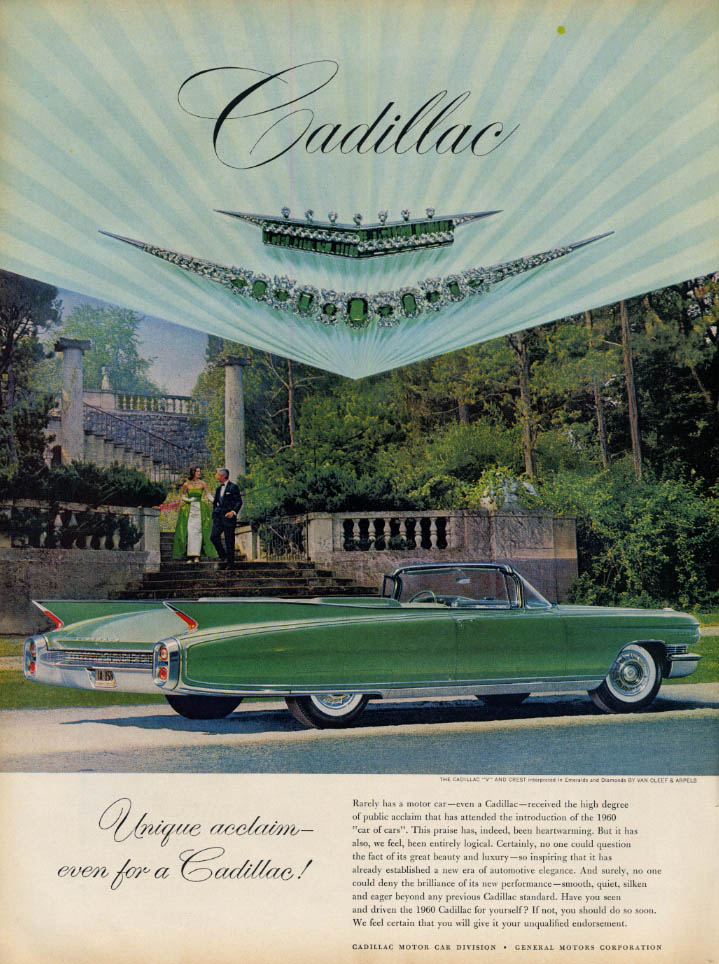 Image for Unique acclaim even for a Cadillac - Eldorado Convertible ad 1960 L