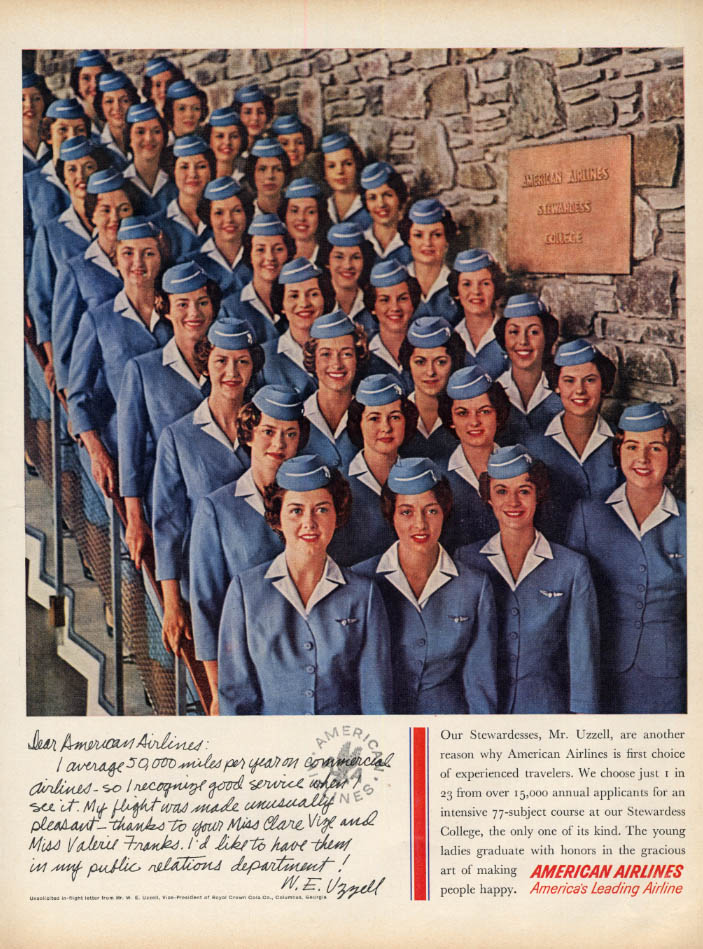 Image for Our Stewardesses are another reason American Airlines is 1st choice ad 1960 L