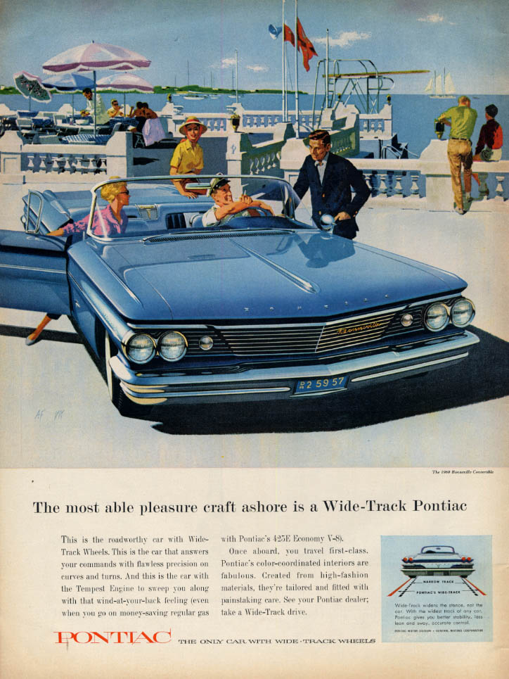Image for Most able pleasure craft ashore Pontiac Bonneville Convertible ad 1960 L