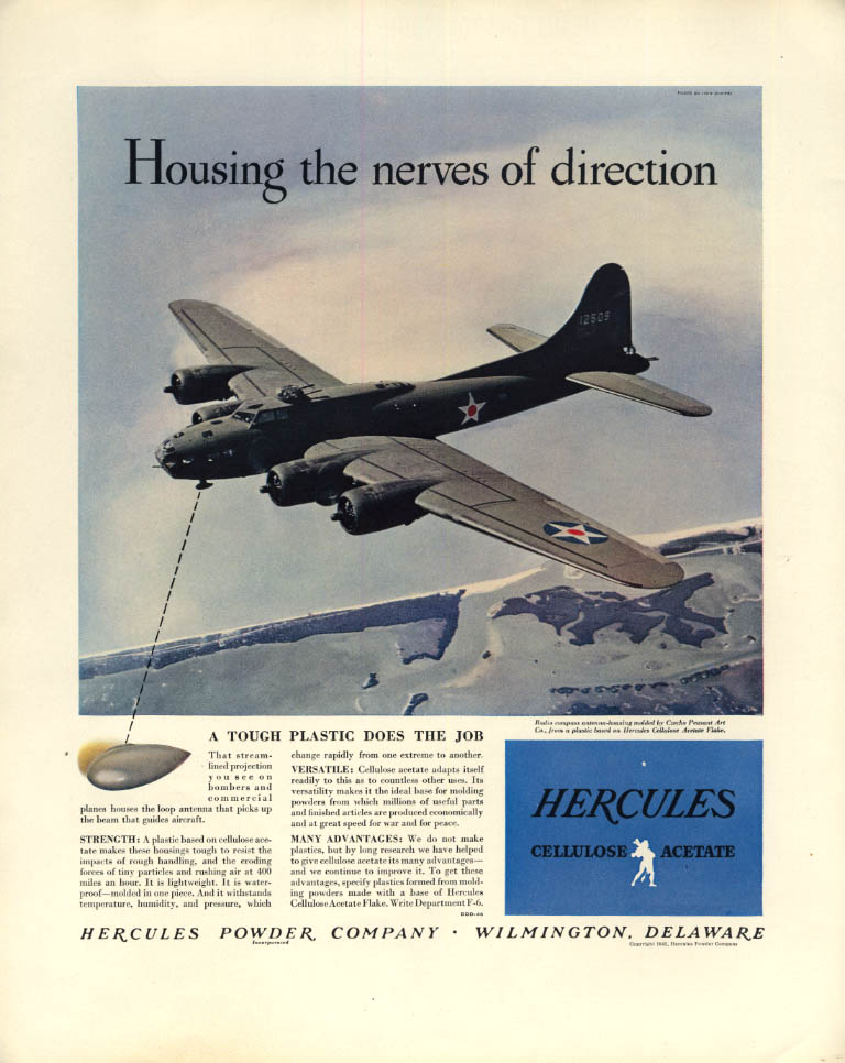 Image for Housing the nerves of direction Hercules Powder Boeing B17 ad 1942 F