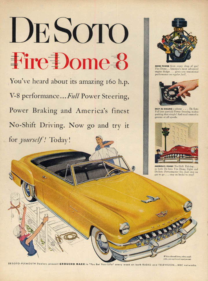 Image for You've heard about it's amazing V-8 performance De Soto Convertible ad 1952 L