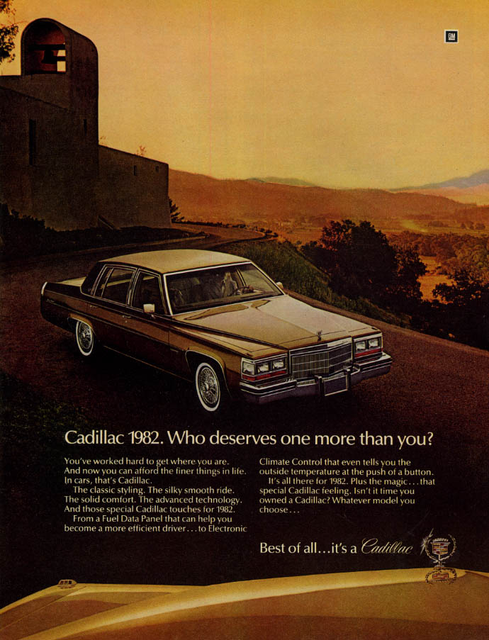 Image for Who deserves one more than you? Cadillac Sedan de Ville ad 1982 EB