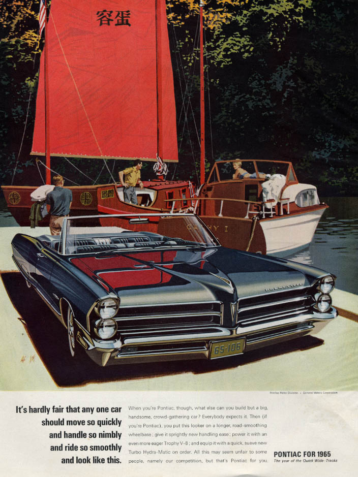 Image for Hardly fair it should move quickly & look like this Pontiac Bonneville ad 1965 H